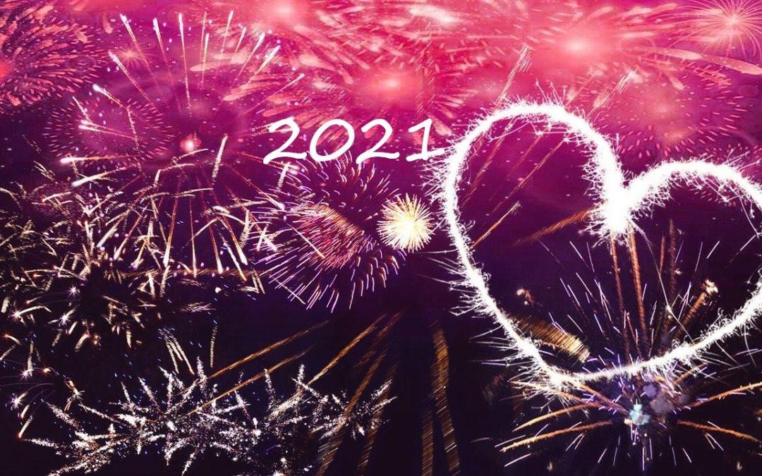 Terveyttä, Rakkautta, Iloa ja Onnea vuodelle 2021!
